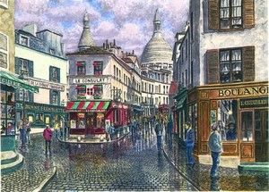 Break In The Storm Over Montmartre Correction