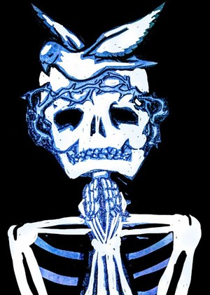 Godz skull with dove