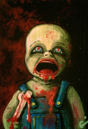 Zombie Baby ACEO