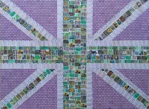 Union Jack - Greens and Purple