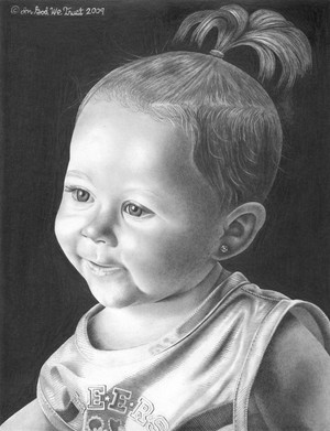 Portrait of my youngest granddaughter