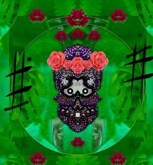 Flower skull and sugar skull