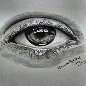 Charcoal eye sketch