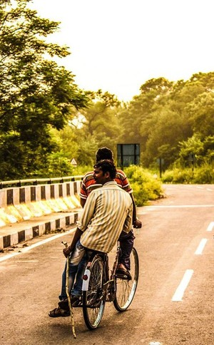 Man on cycle