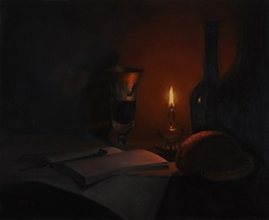 Still life with candle