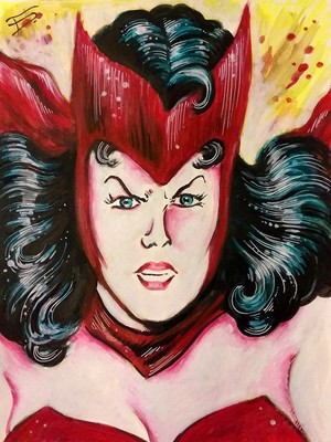 SCARLET WITCH PRINT,MOVIE POSTER,COMIC PRINTS, MAR