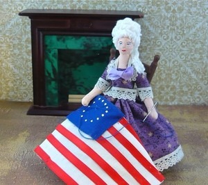 Betsy Ross Miniature Art Doll