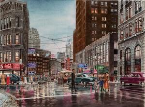 Crossing the Street: Detroit, MI ca.1951