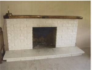 Faux on fireplace