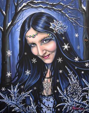 Magic in the winter night