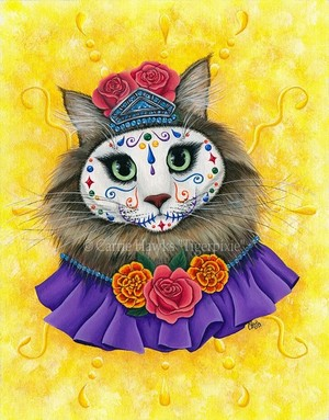 Day of the Dead Cat Princess