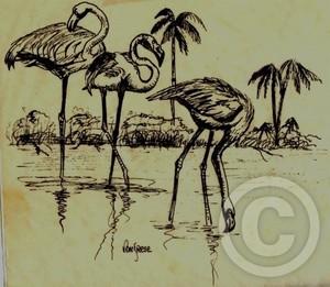 Flamingos Three