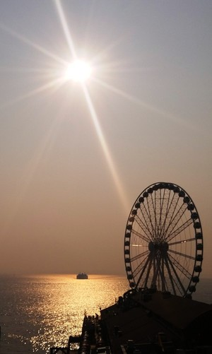 Great wheel at sundown