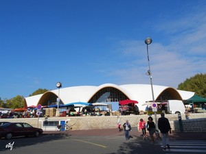 market hall outside and in