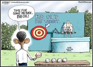 Big Oil, Big Target (Cartoon)
