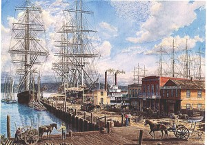 San Francisco: The Vallejo St Wharf ca. 1863