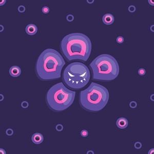 Purple evil flower