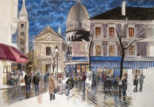 Paris: Days End Place Du Tertre Montmartre Image 3
