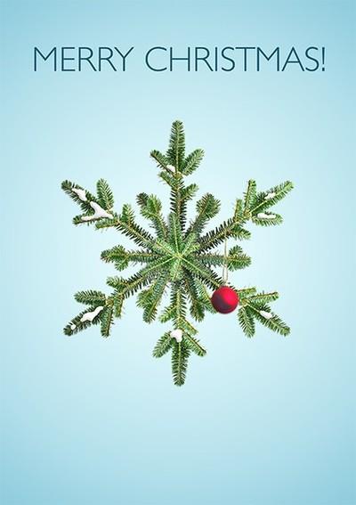 Christmas Snowy Pine Snowflake