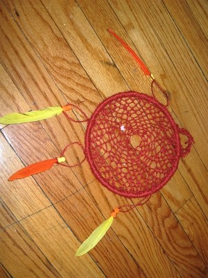 Red Dream Catcher Upcycled