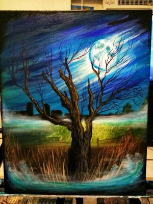 Finished Moonlit Tree