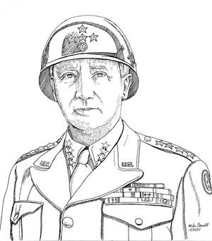 General Patton Line Art