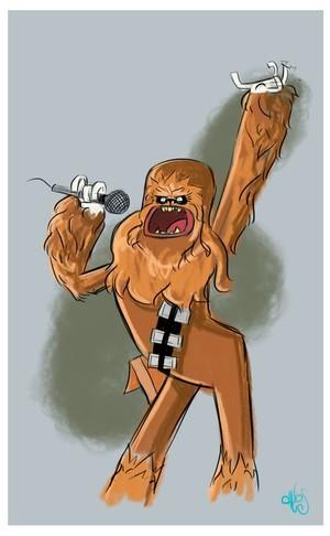 Chewbacca singing