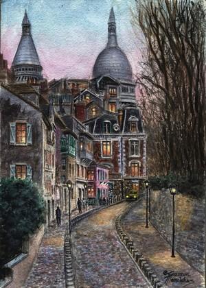 Montmartre Rue de l' Abreuvoir From Place Dalida