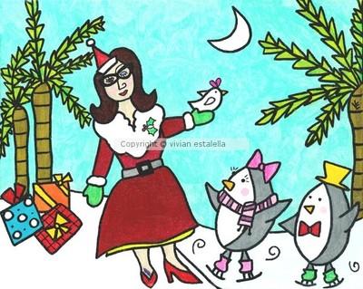 Santa and Her Little Elves