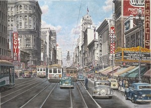 San Francisco Market Street ca1941