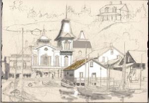 Mackinac Island c. 1890 Black & White Study