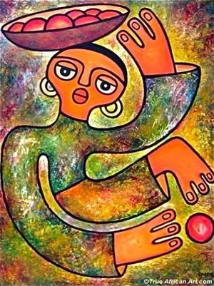 True African Art.com-Elisha Ongere-One More Fruit
