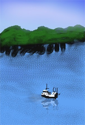 Boat on a Lake O654