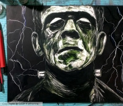 Frankenstein on Scratch board