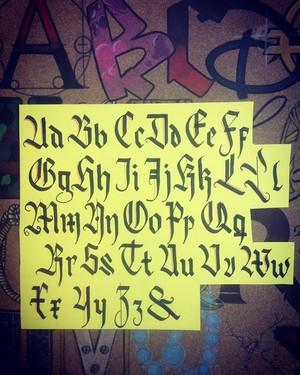 Alphabet Calligraphy