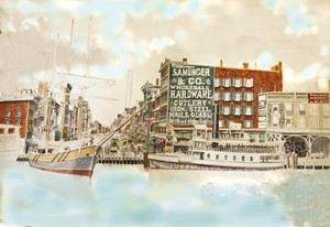 Detroit Michigan: The Waterfront ca. 1890 9/17/09