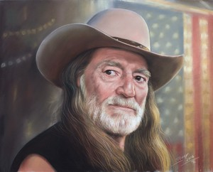 Portrait of Willie Nelson