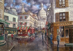 Break In The Storm Over Montmartre
