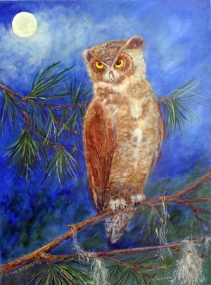 Horned Owl in Southern Pines