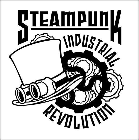steampunk industrial revolution logo by don higgins