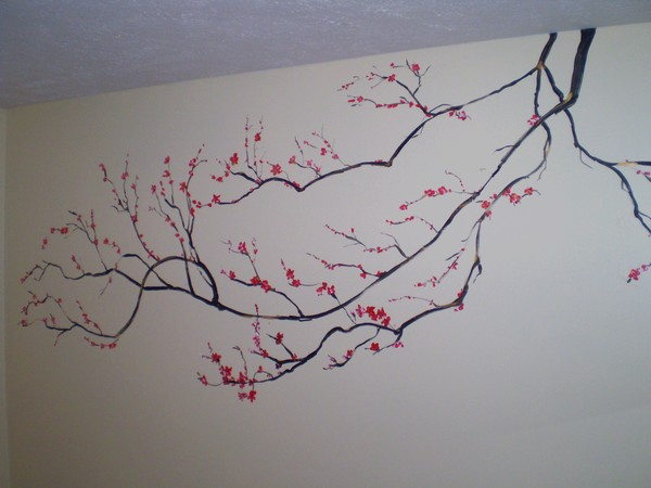cherry tree mural by maarika mann