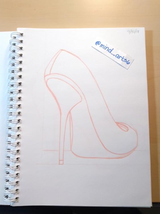 High heels sketch