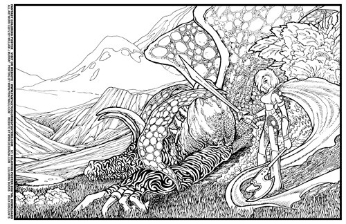 Fantasy Coloring Poster#7: Lying In Wait by William J Murray ...