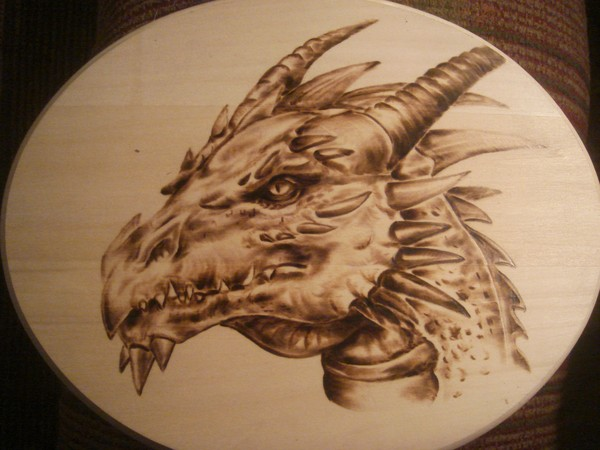 Dragon Woodburning Pyrography By Greg Cook Artwanted Com
