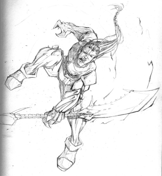 Dragon Warrior Action Pose By Justin Cook Artwanted Com