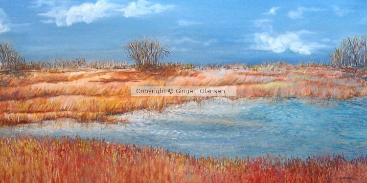 Flat Lands In Fall  by G Olansen (SOLD)