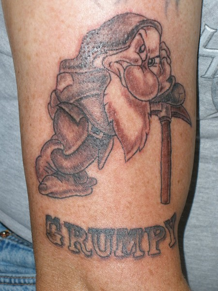Grumpy Tattoo by Gayle Taylor | ArtWanted.com