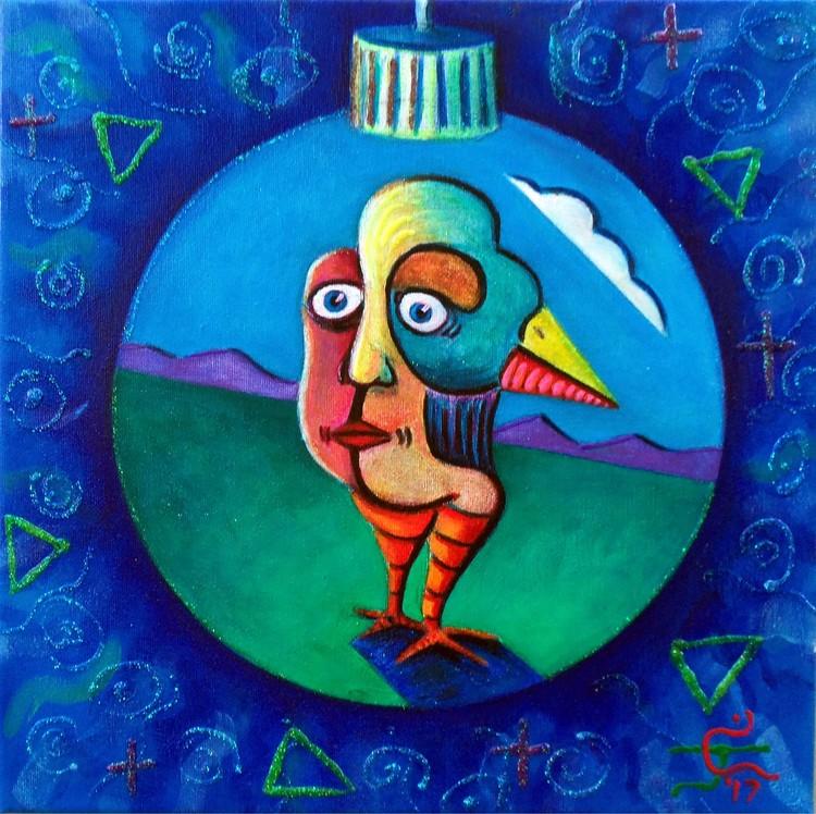 Bird In The Ornament 4
