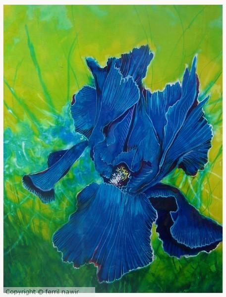 blue iris by ferril nawir. Black Bedroom Furniture Sets. Home Design Ideas