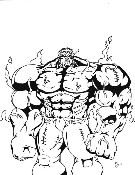 Red Hulk Free Coloring Pages